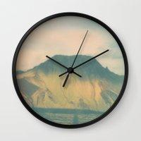 iceland Wall Clocks featuring Morning Iceland by Richard PJ Lambert