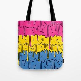 Pastel Kawaii Melting Pansexual Pride LGBTQ Design Tote Bag