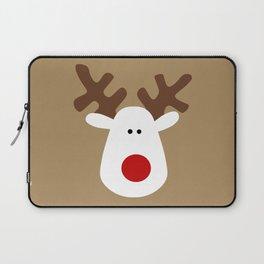 Christmas Reindeer-Brown Laptop Sleeve