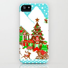 Merry Christmas Gingerbread Christmas iPhone Case
