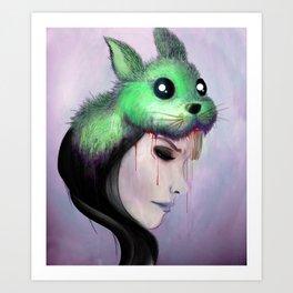 Bunny hat Art Print