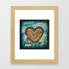 I heart peace Framed Art Print