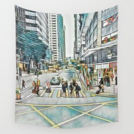 Textured Wan Chai Wall Tapestry