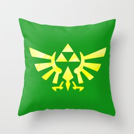 The Legend of Zelda Triforce Yellow Throw Pillow