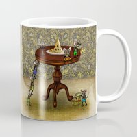 cheese Mugs featuring Cheese by Anna Shell