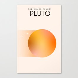 The dwarf planet Pluto Canvas Print