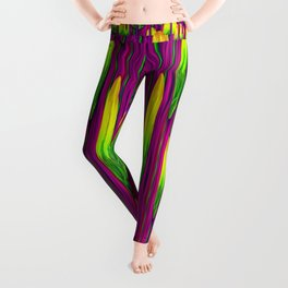 Tulips abstract on fire Leggings