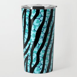 Fur mix texture - zebra 02 Travel Mug