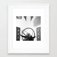 atlas Framed Art Prints featuring Atlas by Evan Morris Cohen