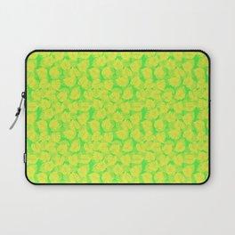 Big Monstera Tropical Leaf Hawaii Rain Forest Lemon Yellow and Lime Green Laptop Sleeve