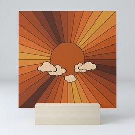 Retro Sunshine Mini Art Print