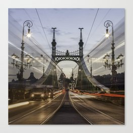 Budapest traffic Canvas Print