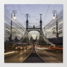 Budapest traffic Canvas Print