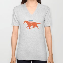 Naked derby Unisex V-Neck