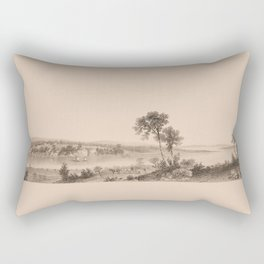 Lake Champlain 1850 (sepia) Rectangular Pillow