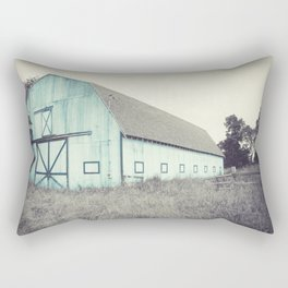 Aqua Barn Rectangular Pillow