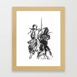 Be Brave. Framed Art Print