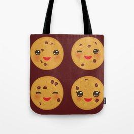 Kawaii Chocolate chip cookie Tote Bag