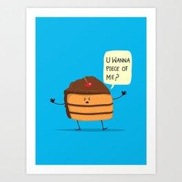 Trouble Baker Art Print