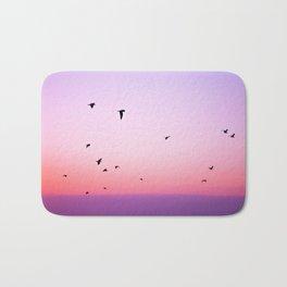 birds in the sky rose Bath Mat