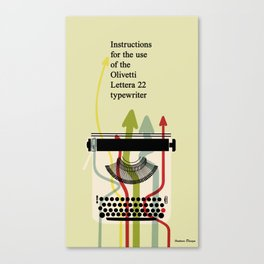 Retro Typewriter (Olivetti Lettera 22 Manual) Canvas Print