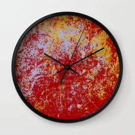 Barusa - Abstract Colorful Bohemian Batik Camouflage Tie-Dye Style Art Wall Clock