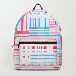 Abstract Vibrant Optical Illusion Geometric Pop Print Backpack