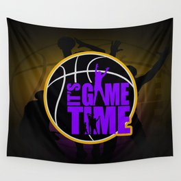 It's Game Time - Purple & Gold Wall Tapestry