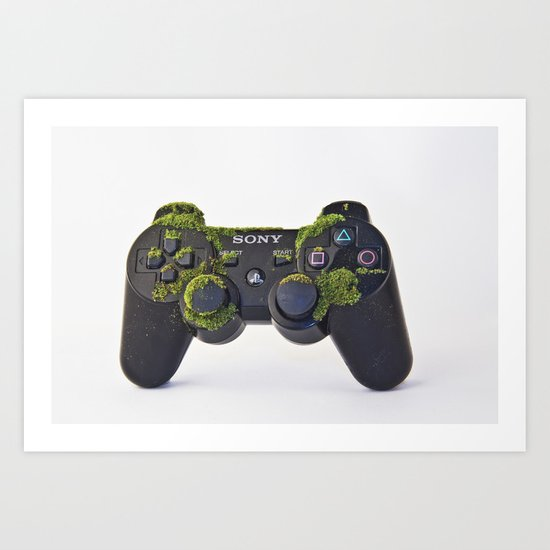 after We've Gone. Controller Uno Art Print