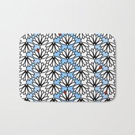Waterlilies Pattern Bath Mat