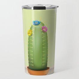 Cactus plant flowering. Travel Mug