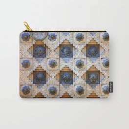 Wood Door Texture Carry-All Pouch