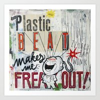 Plastic Beat Art Print