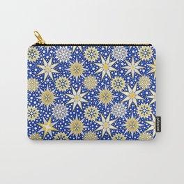 Christmas Star shine snow fall, snowflake, holidays, christmas gift, holiday gift Carry-All Pouch
