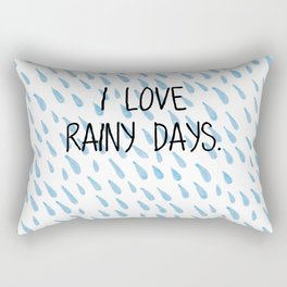 I love rainy days Rectangular Pillow