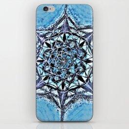 Icy Blue Mandala iPhone Skin