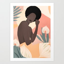 Tropical Girl 18 Art Print