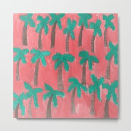 Dreamy Palm Trees Metal Print