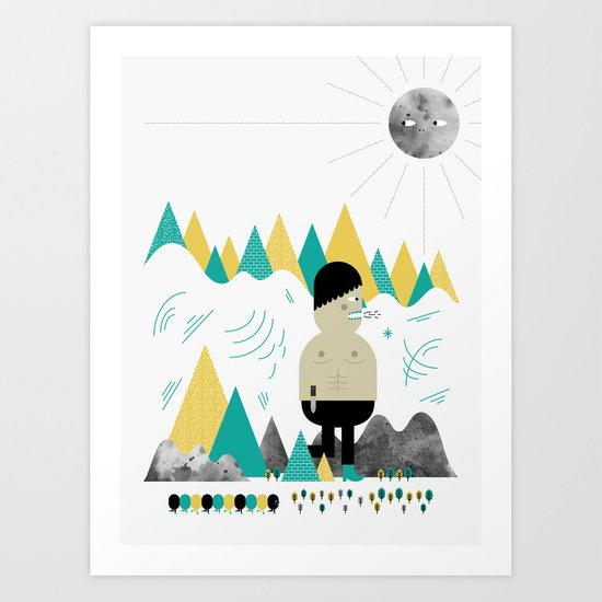 Giant! Art Print