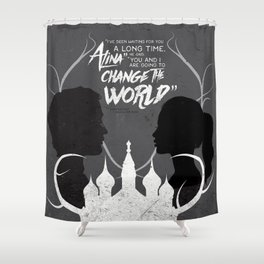 What I Showed You In The Dark Shower Curtain