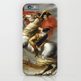 Napoleon Crossing the Alps by Jacques Louis David iPhone Case