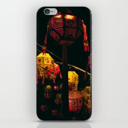Korean Lanterns iPhone Skin