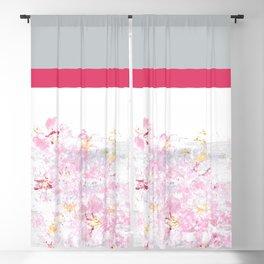 Colorblock Cherry Blackout Curtain