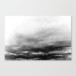 WHITE & BLACK TOUCHING #1 #abstract #decor #art #society6 Canvas Print