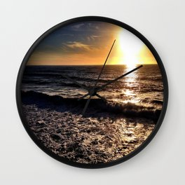"Hermosa Beach ""On the Pier"" Wall Clock"