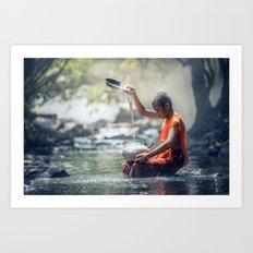 buddhist monk Art Print