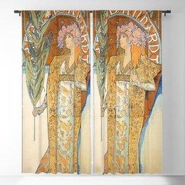 Art Nouveau poster by Alphonse Mucha Blackout Curtain