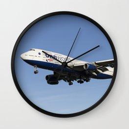 One World Boeing 747 Wall Clock