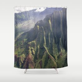 Helicopter View of Heaven in Hawaii Shower Curtain