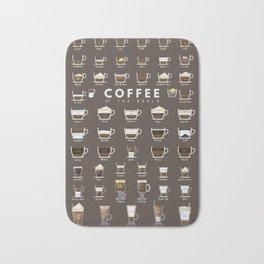 Coffee Chart Bath Mat